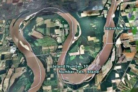 Mississippi River ran backward 1812 maps