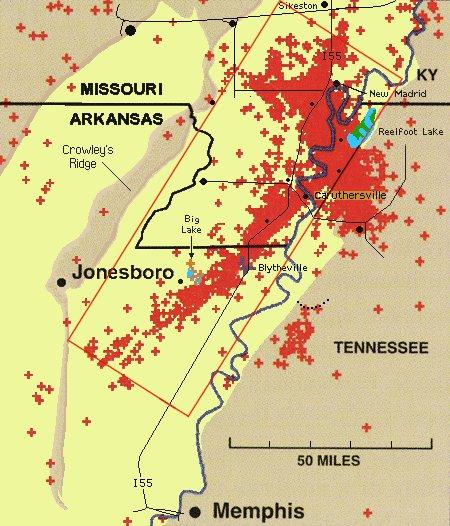 New Madrid Seismic Zone Maps Of Past Quake Activity - Missouri fault line map