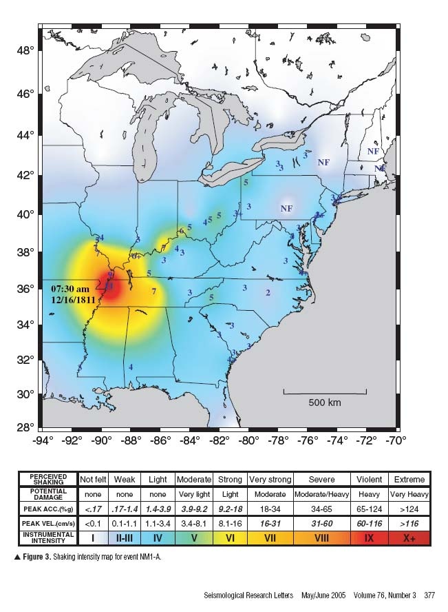 Fault Lines In Missouri Map.More New Madrid Seismic Maps