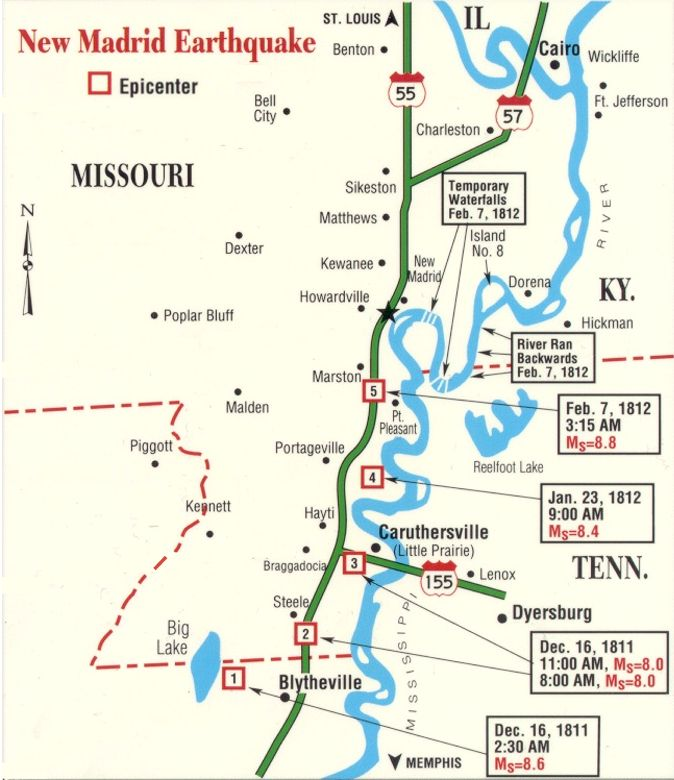 Fault Lines In Missouri Map.New Madrid Seismic Region Fault Line Maps Page 4