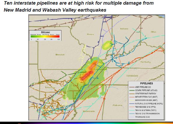 New Madrid Earthquake Seismic Zone Maps P - Missouri fault line map
